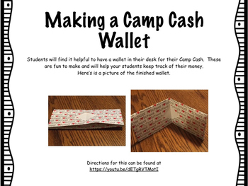 Classroom Economy-Camp Cash