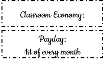 Classroom Economy Cards (Jobs, Salaries, Items for Purchase, and more!)