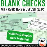 Classroom Economy Checkbook, Checks & Deposit Slips, Check