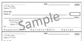 Classroom Economy Checkwriting Sheets (4 per page - Total of 16)