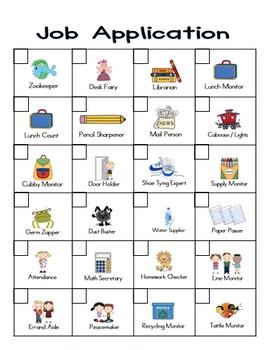 Classroom Jobs and Economy