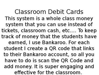 Dollar Deal: Classroom Economy Debit Cards