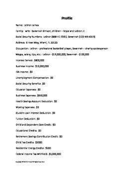 File Federal Taxes - 1040 Tax Worksheet & Profiles (Math,Social Studies,Economy)