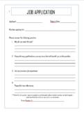 Classroom Economy Job Application