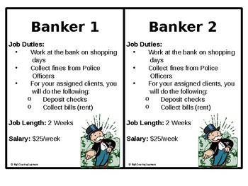 Classroom Economy Job Cards