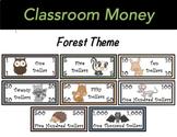 Classroom Economy Money (Forest Animal Theme)