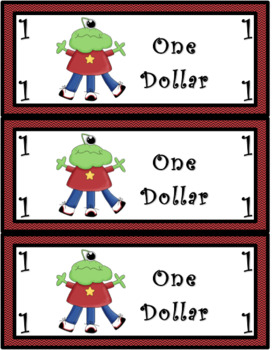 Classroom Economy Money (Monster Theme)