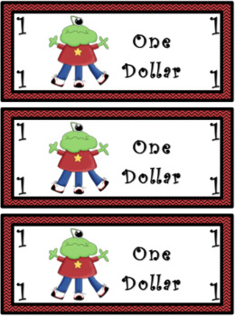 Classroom Economy Money (Monster Theme)