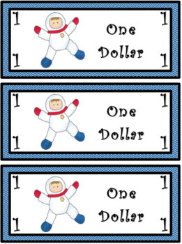 Classroom Economy Money (Space Theme)