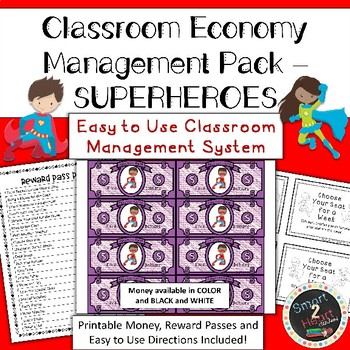 Classroom Economy - Money System - SUPERHERO