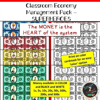 Classroom Economy - Money System - SUPERHERO