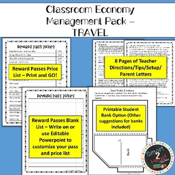 Classroom Economy - Money System - TRAVEL