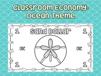 Classroom Economy: Ocean Theme Money