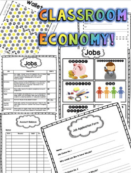 Classroom Economy Package Earn and Learn!
