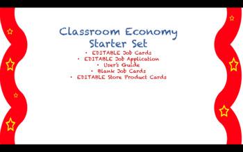 Classroom Economy Packet EDITABLE