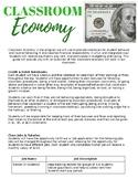 Classroom Economy Parent Letter