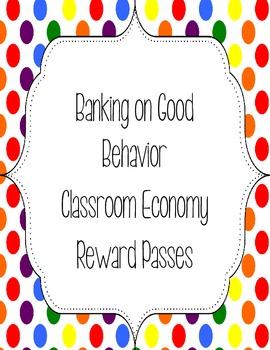Classroom Economy Reward Passes
