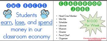 Classroom Economy Signs