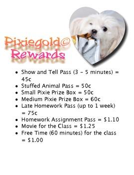 Classroom Economy - Student Catalogue - Rewards