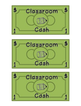 Classroom Economy Wallet and Cash