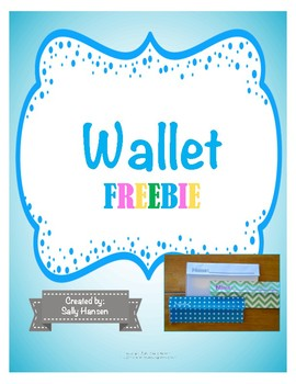 Classroom Economy Wallet for Cash FREEBIE