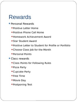Classroom Economy and Whole Class Rewards System