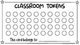 Classroom Economy token card