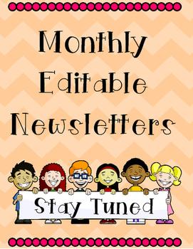 Classroom Editable Newsletter