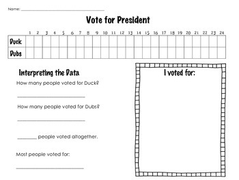 FREE Classroom Election: Duck or Dubs for President