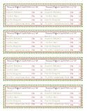 Classroom Elf Behaviour Report Cards