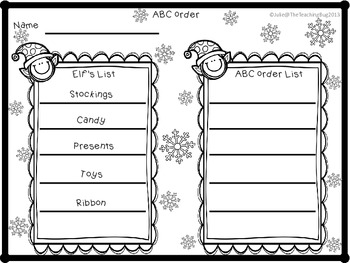 Classroom Elf Holiday Activities