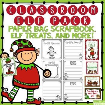 Classroom Elf Paper Bag Scrapbook, Elf Treats & More