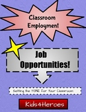 Classroom Employment... Setting the TONE for Your Classroom