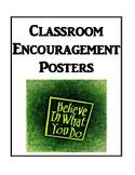 Classroom Encouragement Posters