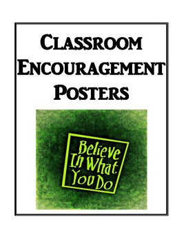classroom encouragement posters by brilliance builders tpt