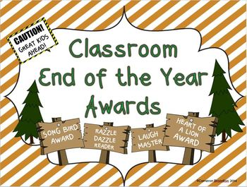 Classroom End of the Year Award Certificates