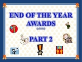 Classroom End of the Year Awards Certificate Pack 2 (editable)