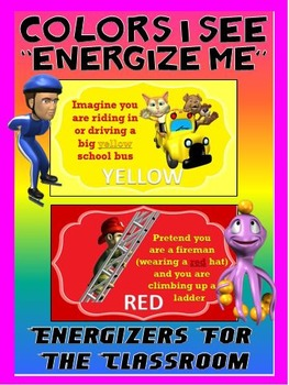 """Classroom Energizers- Colors I See... """"Energize Me"""""""