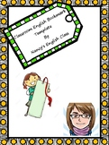 Classroom English Bookmark Template