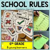 School Rules - Flashcards & labels - Worksheets