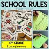 School Rules - Flashcards & labels - Worksheets