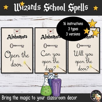 Classroom English Posters - Harry Potter Style