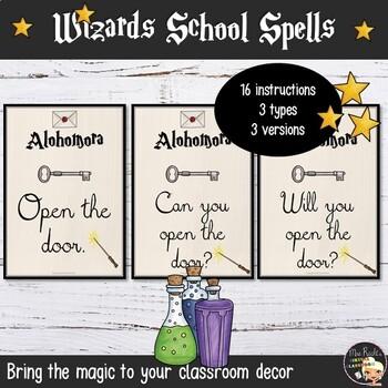 Harry Potter Classroom Instructions