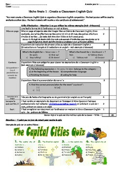 Classroom English quiz: final task