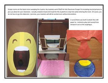 Classroom Escape: Inside the Human Body