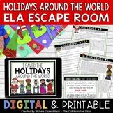 Holidays Around the World Escape Room ELA December Activit