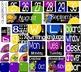 Classroom Decor & Alphabet Cards & Phonics Cards BUNDLE - Bright & Bold