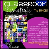 Alphabet, Phonics and Classroom Decor BUNDLE - Bright & Bold