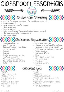 Classroom Essentials List