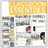 Classroom Essentials Pack {editable}